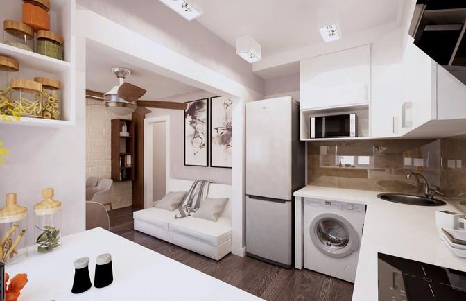 Интерьер трехкомнатной квартиры 89 кв. м