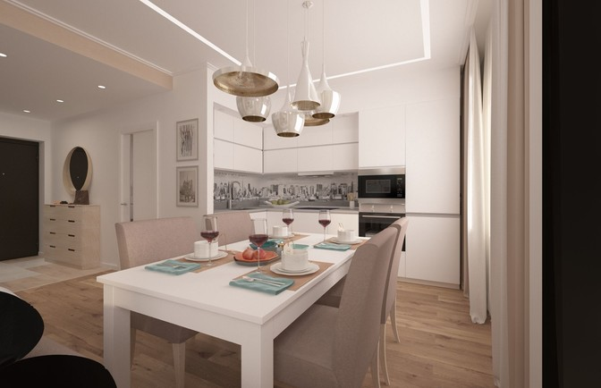 Интерьер трехкомнатной квартиры 94 кв. м