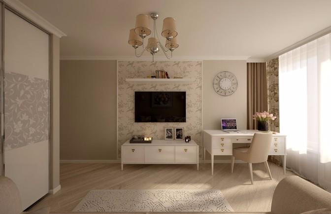 Интерьер трехкомнатной квартиры 79 кв. м