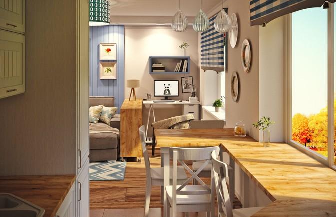 Интерьер трехкомнатной квартиры 72 кв. м