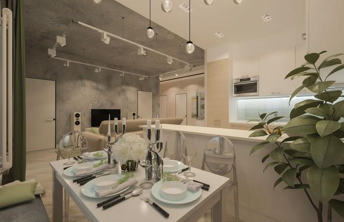 Интерьер трёхкомнатной квартиры 135 кв. м