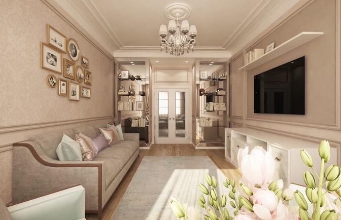Интерьер трехкомнатной квартиры 102 кв. м