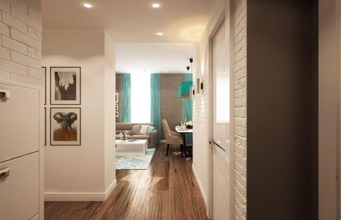 Интерьер однокомнатной квартиры 47 кв. м