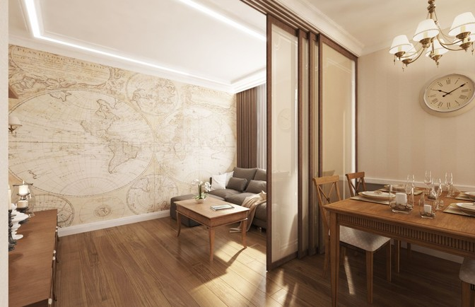 Интерьер трехкомнатной квартиры 106 кв. м
